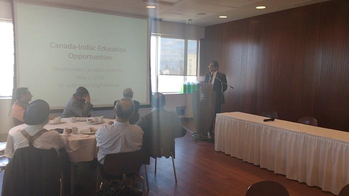 Breakfast Meeting: Canada and India Collaboration on Education and Business held on May 7th, 2016 at  U of Ottawa