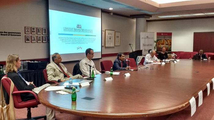 Education Conference: Canada and India Research and Educational Collaboration: Opportunities & Lessons learnt held at Pavillon Tabaret Hall, U of Ottawa on 6th May 2016