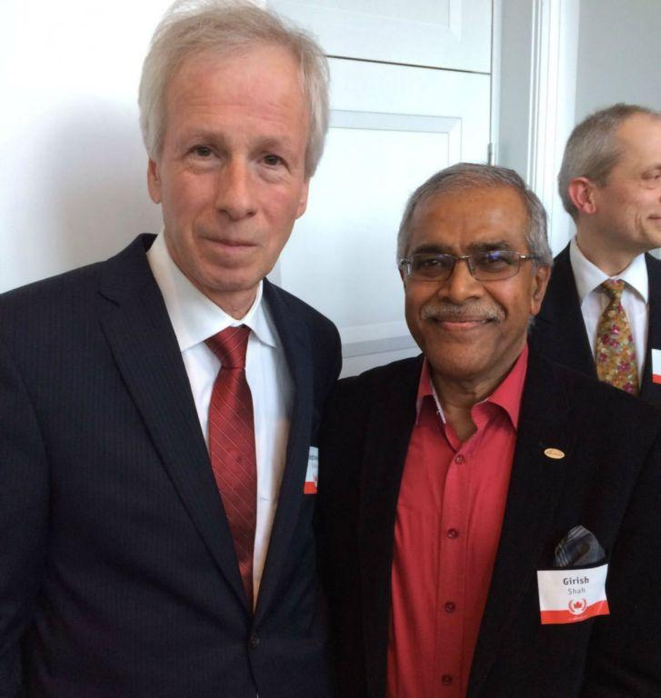 SICI President, Prof. Girish M. Shah met with Hon'ble Stéphane Dion, Minister of Foreign Affairs , Canada  on Friday 18th March, 2016.