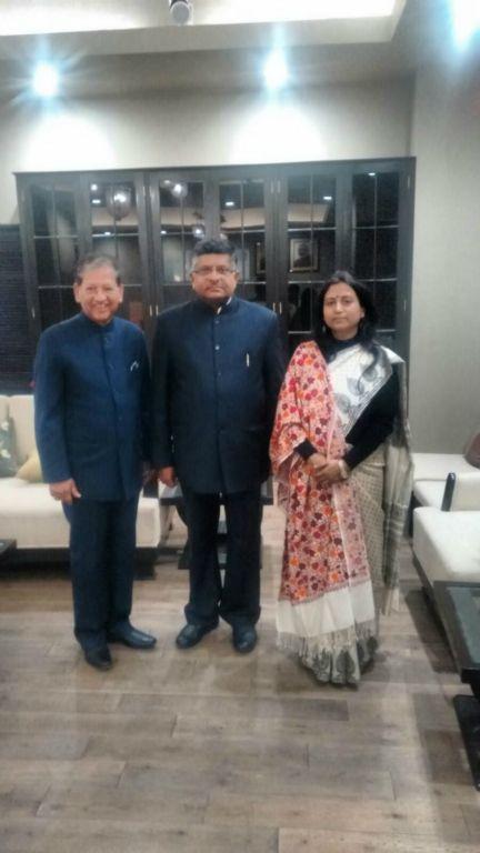 Dr. Prachi Kaul, Acting Director and Shri Sunil Shastri met with Hon'ble Shri Ravi Shanker Prasad,Union Minister of Communications and Information Technology