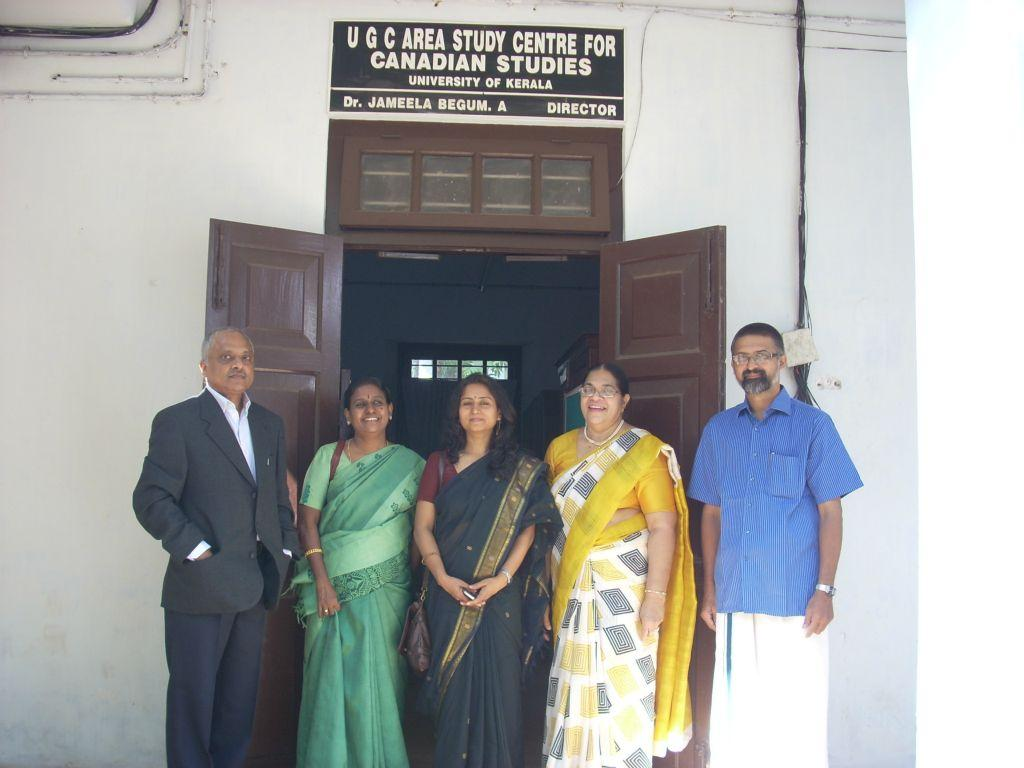 Library Visit, University of Kerala, Trivandrum, 3 February 2012  (Standing from Left: Mr. Chanchal Sinha, Dr. B.S. Jamuna, Dr. Prachi Kaul, Prof. Jameela Begum, Dr. B. Hariharan)