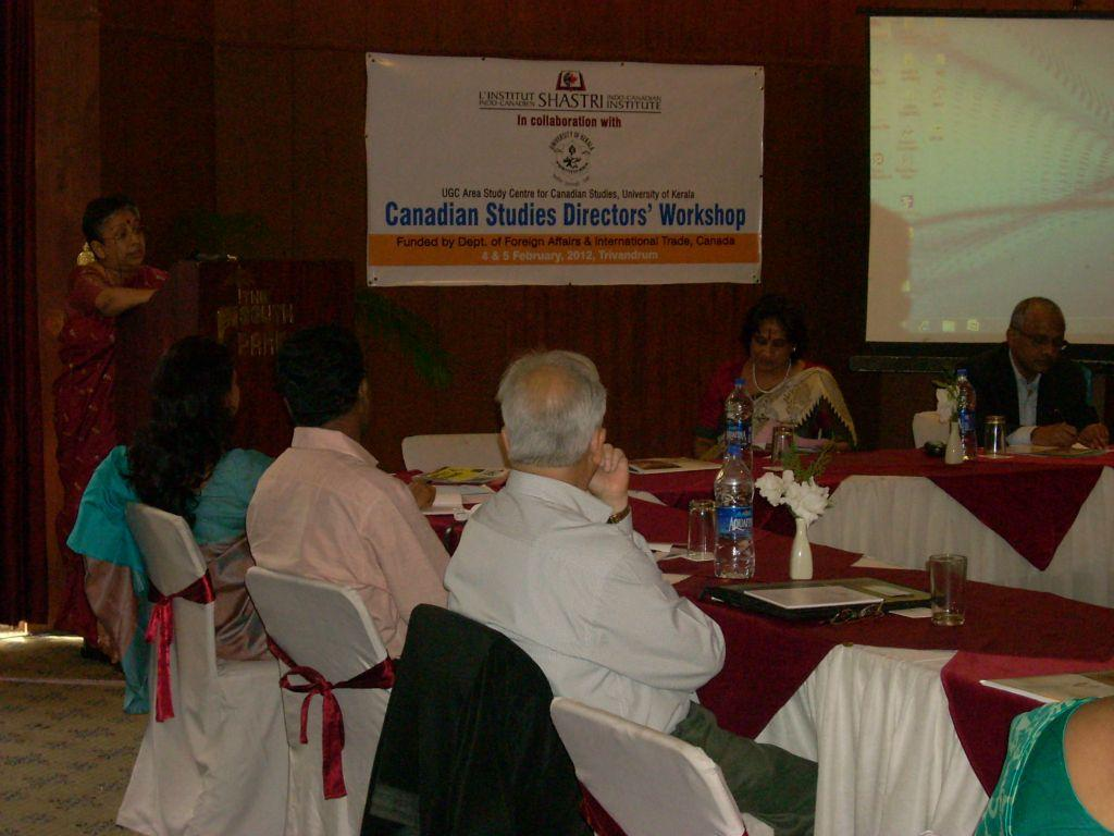 Canadian Studies Directors' Workshop, Travancore Hall: The South Park, Trivandrum on 4-5 February 2012