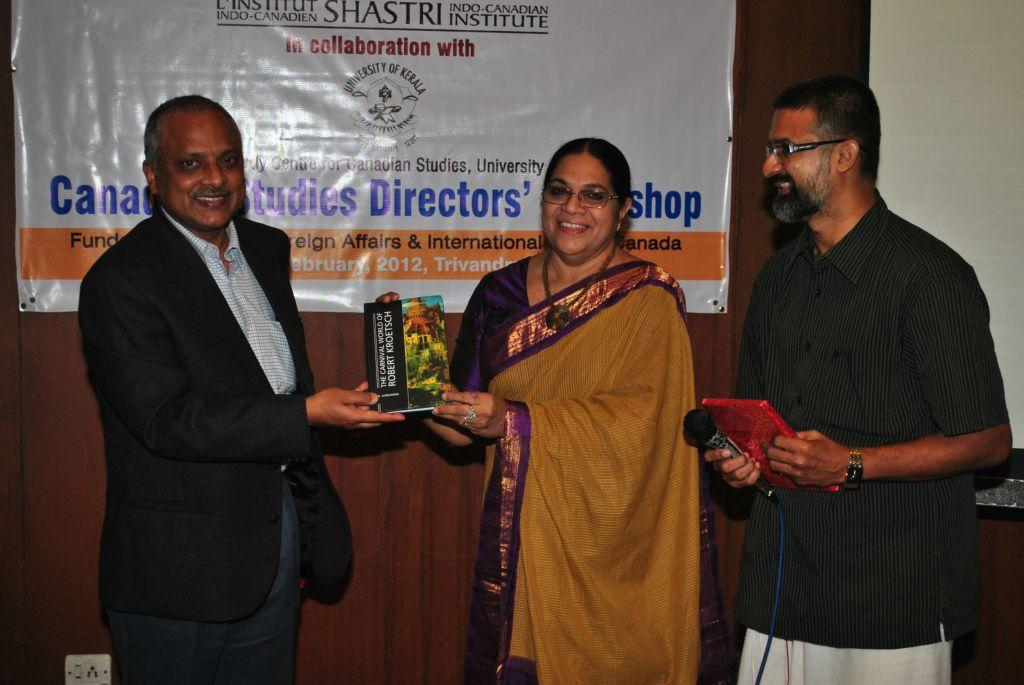 Book Release Function (Standing from Left: Mr. Chanchal Sinha, Prof. Jameela Begum, Dr. B. Hariharan)