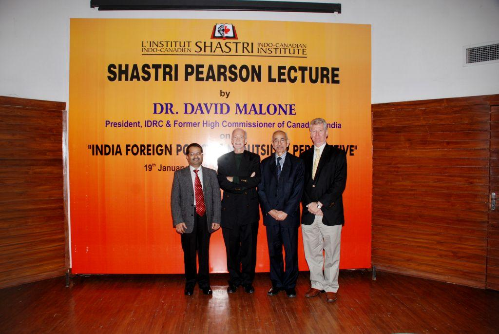 Shastri-Pearson Lecture, South Campus, University of Delhi, 19th January 2012